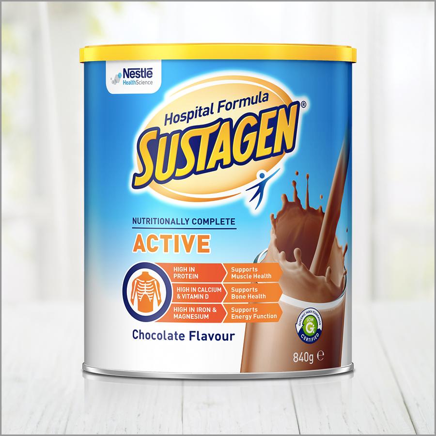 SUSTAGEN® Hospital Formula ACTIVE - CHOCOLATE Flavour   Sustagen